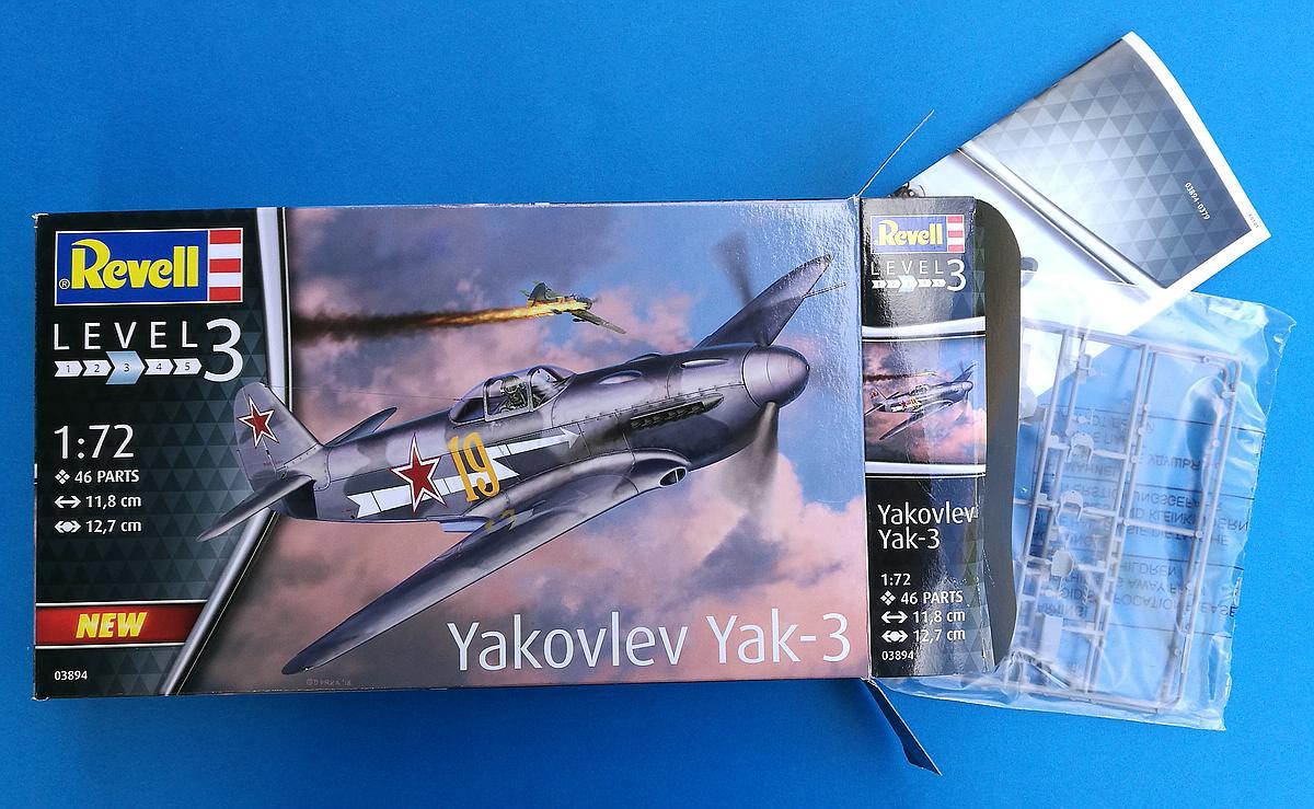 Revell-03894-Jak-3-19 Yakovlev Yak-3 (Jak-3) im Maßstab 1:72 von Revell 03894