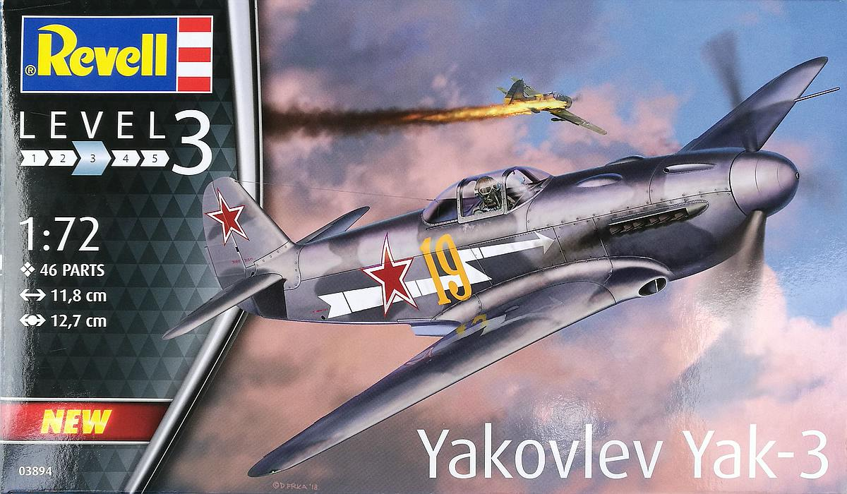 Revell-03894-Jak-3-20 Yakovlev Yak-3 (Jak-3) im Maßstab 1:72 von Revell 03894