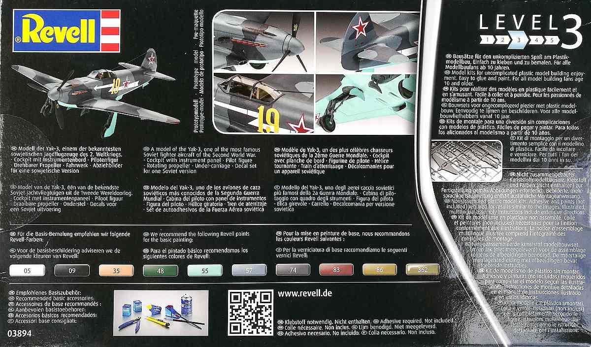 Revell-03894-Jak-3-21 Yakovlev Yak-3 (Jak-3) im Maßstab 1:72 von Revell 03894