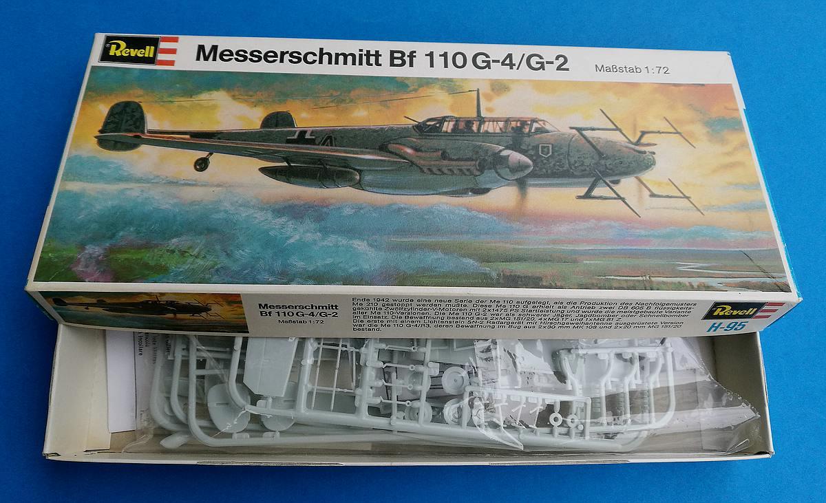 Revell-H-95-Messerschmitt-Bf-110-G-4-8 Kit-Archäologie - heute: Messerschmitt Bf 110 G-4 im Maßstab 1:72 von Revell H-95