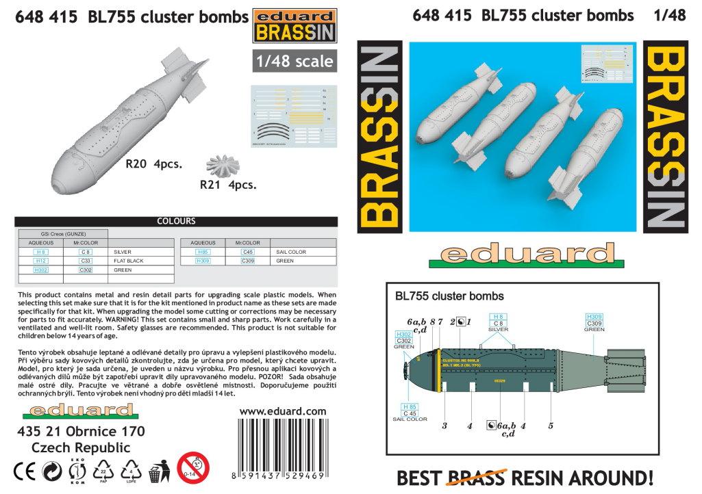 Review_Eduard_BL755_09 BL755 Cluster Bombs - Eduard BRASSIN - 1/48