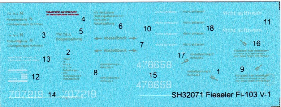Special-Hobby-SH-32071-Fieseler-Fi-103-V1-DEcals Fieseler Fi 103 V1 in 1:32 von Special Hobby SH 32071