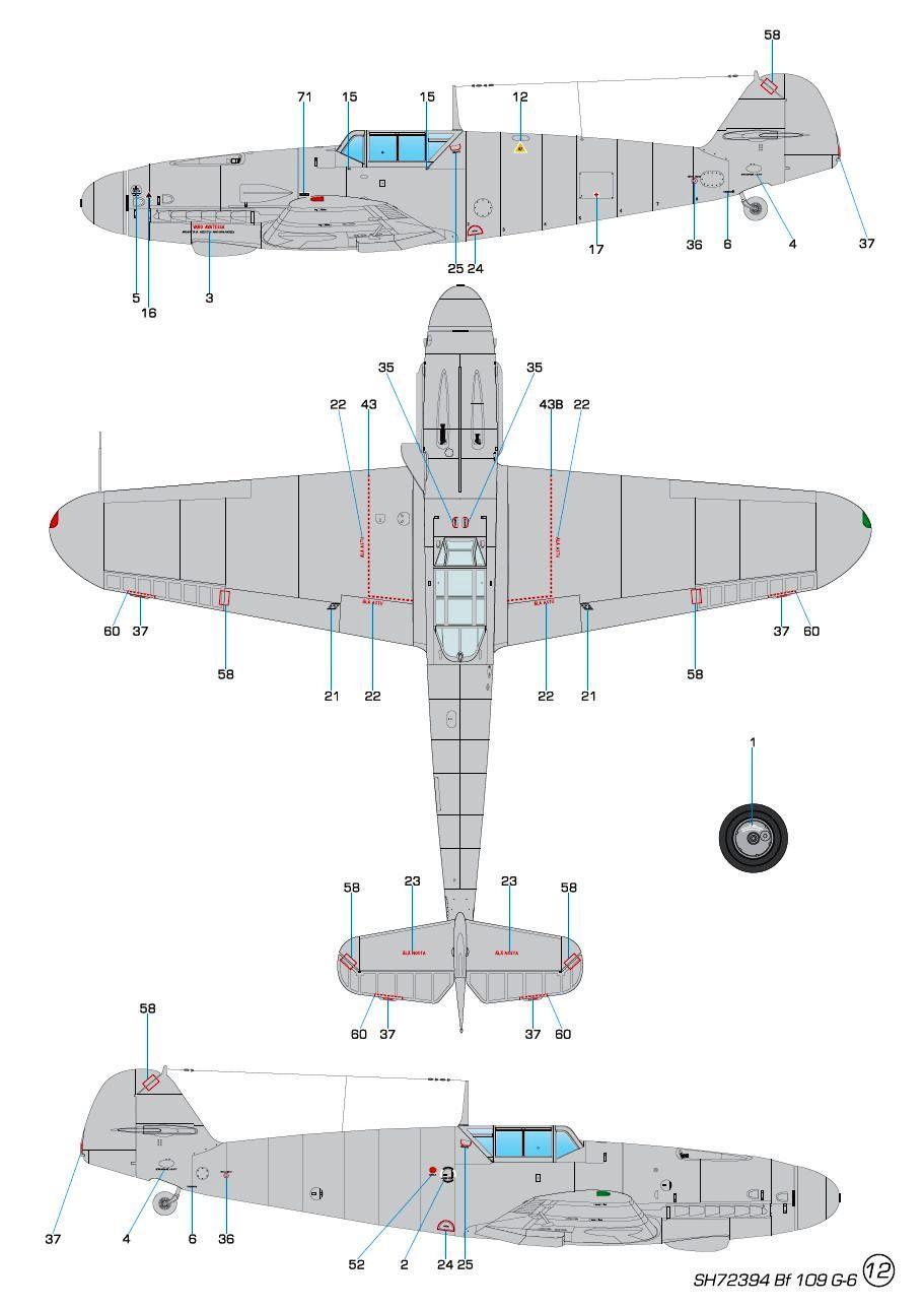 Special-Hobby-SH-72394-Messerschmitt-Bf109-G-6-Finnland-12 Messerschmitt Bf 109 G-6 MERSU in Finnland in 1:72 von Special Hobby SH 72394