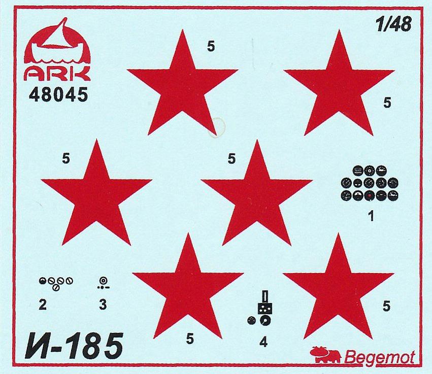 ARK-Models-AK-48045-Polikarpov-I-185-16 Polikarpov I-185 im Maßstab 1:48 von ARK Models AK 48045