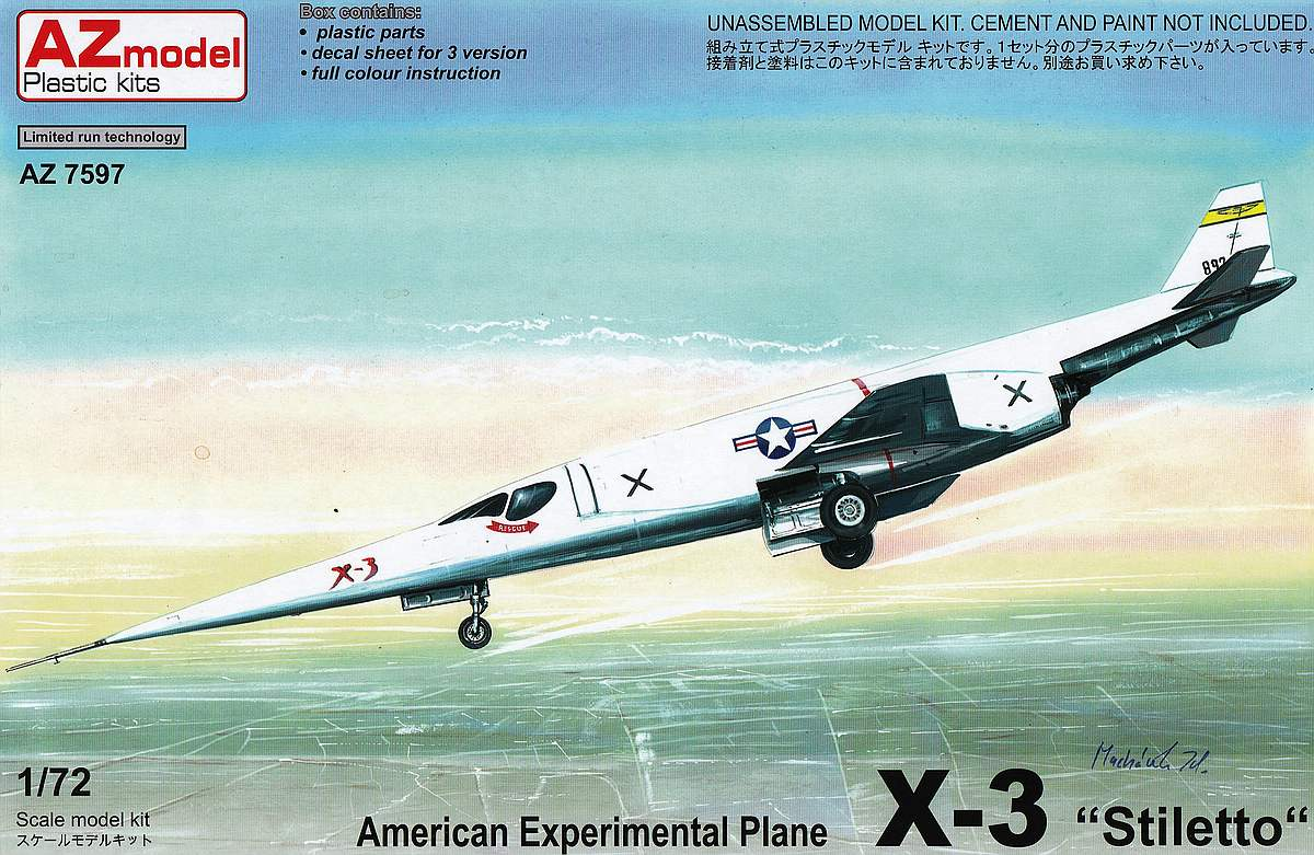 AZ-Model-AZ-7597-Douglas-X-3-Stiletto-1 Douglas X-3 Stiletto im Maßstab 1:72 von AZ Model AZ 7597