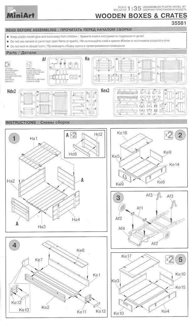 Anleitung01-1-619x1024 Wooden Boxes & Crates 1:35 Miniart (#35581)