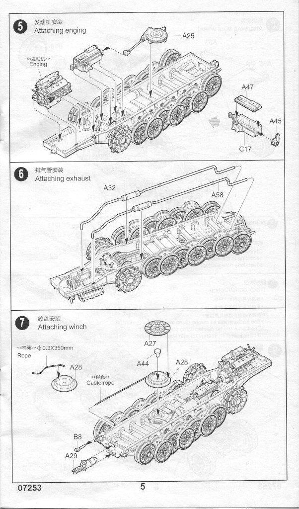 Anleitung05-602x1024 Sd. Kfz. 9/1 Early Version (Drehkran 6/ auf Zugkraftwagen 18T) FAMO Trumpeter 1:72 (07253)