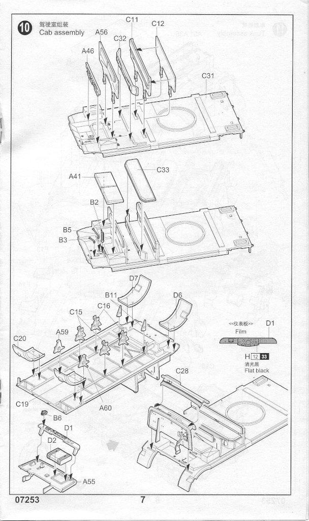 Anleitung07-608x1024 Sd. Kfz. 9/1 Early Version (Drehkran 6/ auf Zugkraftwagen 18T) FAMO Trumpeter 1:72 (07253)