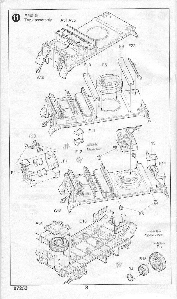 Anleitung08-609x1024 Sd. Kfz. 9/1 Early Version (Drehkran 6/ auf Zugkraftwagen 18T) FAMO Trumpeter 1:72 (07253)