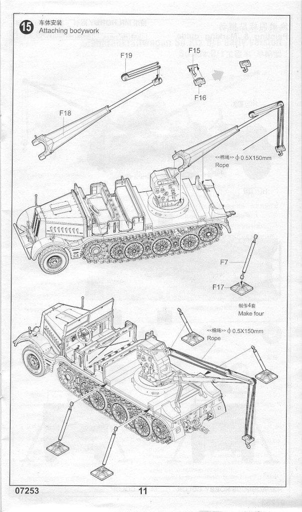Anleitung11-605x1024 Sd. Kfz. 9/1 Early Version (Drehkran 6/ auf Zugkraftwagen 18T) FAMO Trumpeter 1:72 (07253)