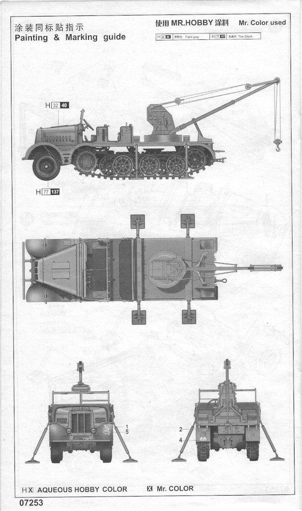 Anleitung12-607x1024 Sd. Kfz. 9/1 Early Version (Drehkran 6/ auf Zugkraftwagen 18T) FAMO Trumpeter 1:72 (07253)