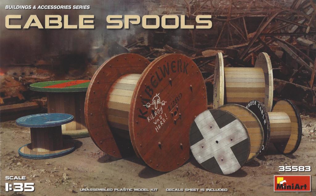Box-3 Cable Spools im MAßstab 1:35 von MiniArt #35583