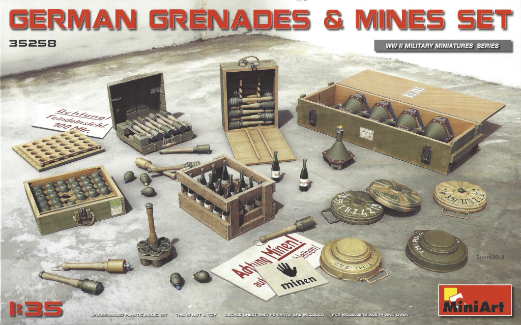 Box-5 German Grenades & Mines Set 1:35 Miniart (#35258)