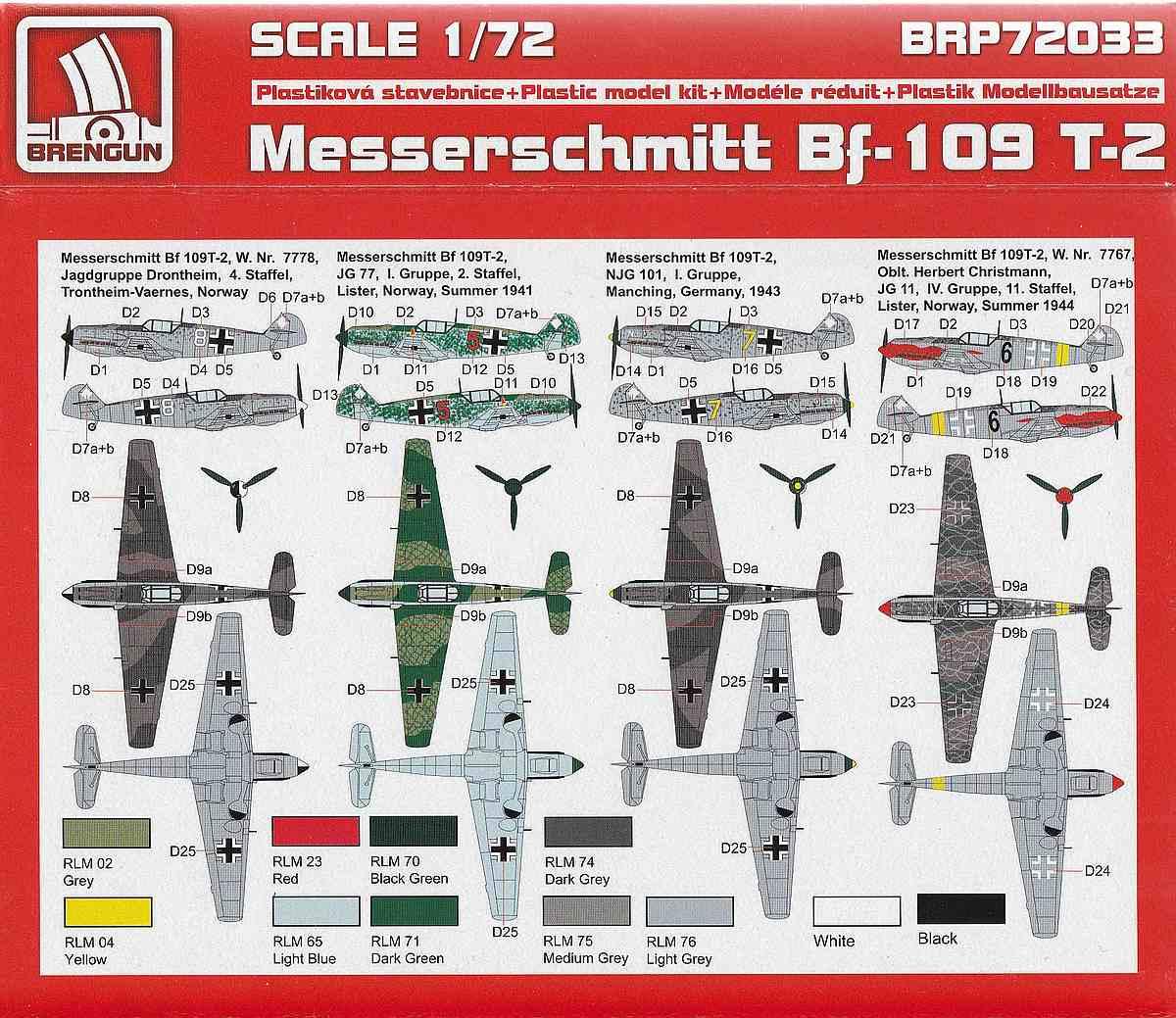 Brengun-BRP-72033-Messerschmitt-Bf-109T-4 Messerschmitt Bf 109T im Maßstab 1:72 von Brengun BRP 72033