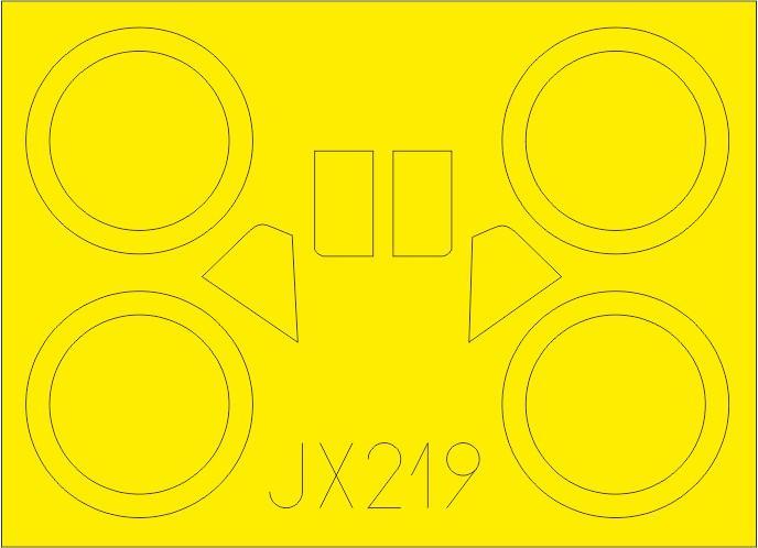 Eduard-JX-219-I-153-Masken_z1-1 Photoätzteile für die 1:32er Polikarpov I-153 Tschaika im Maßstab 1:32 von Eduard