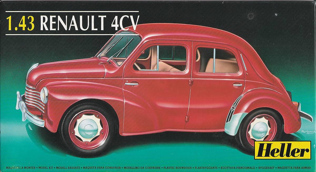 Heller-174-Renault-4CV-1 Kit-Archäologie: Renault 4CV im Maßstab 1:43 von Heller (# 174)