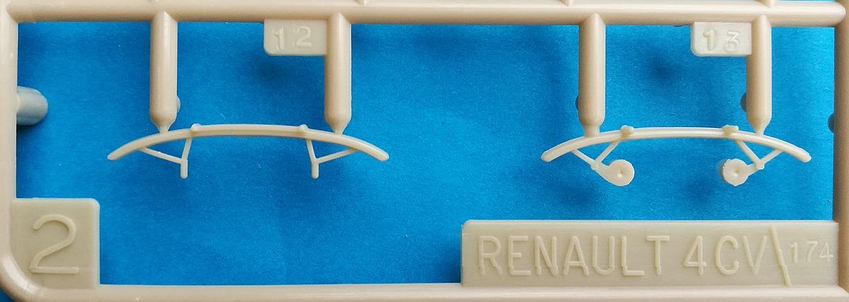 Heller-174-Renault-4CV-19 Kit-Archäologie: Renault 4CV im Maßstab 1:43 von Heller (# 174)