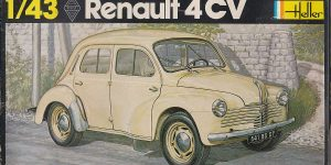 Kit-Archäologie: Renault 4CV im Maßstab 1:43 von Heller (# 174)