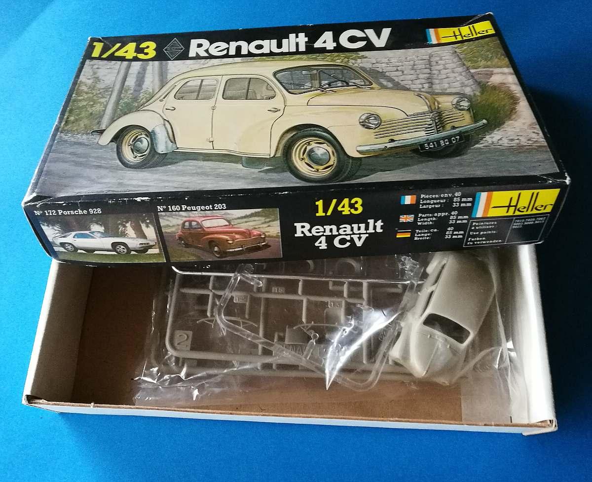 Heller-174-Renault-4CV-9 Kit-Archäologie: Renault 4CV im Maßstab 1:43 von Heller (# 174)