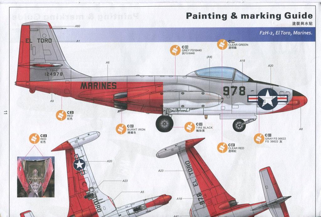 """KH_F2H_Banshee_34 F2H-2(P) """"Banshee"""" - Kitty Hawk 1/48"""