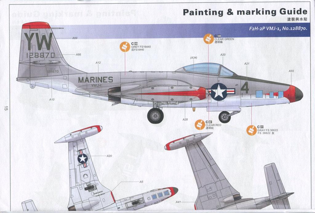 """KH_F2H_Banshee_35 F2H-2(P) """"Banshee"""" - Kitty Hawk 1/48"""