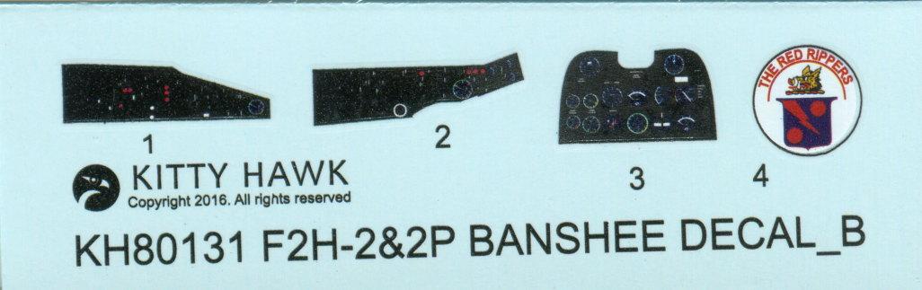 """KH_F2H_Banshee_48 F2H-2(P) """"Banshee"""" - Kitty Hawk 1/48"""
