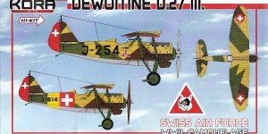 Dewoitine D.27 der Schweizer Flugwaffe im Maßstab 1:72 von KORA Models KPK 72081