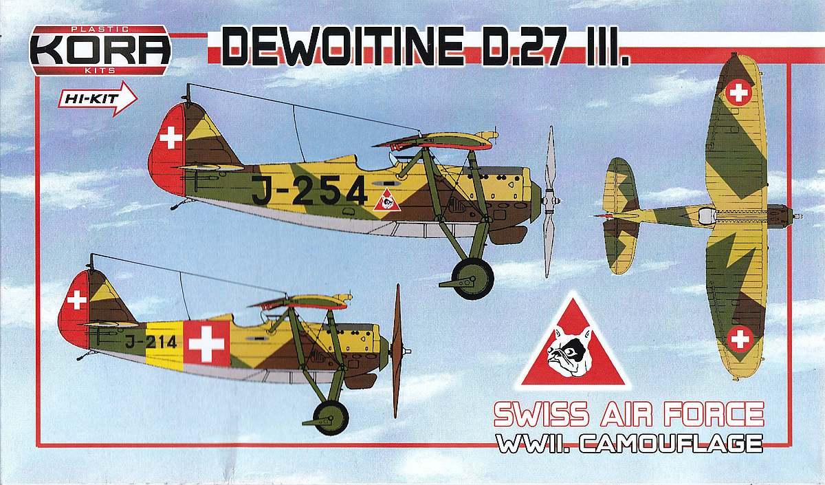 KORA-KPK-72081-Dewoitine-D.27-III-Schweiz-19 Dewoitine D.27 der Schweizer Flugwaffe im Maßstab 1:72 von KORA Models KPK 72081