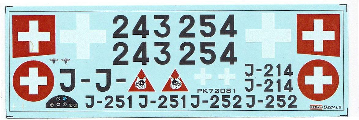 KORA-KPK-72081-Dewoitine-D.27-III-Schweiz-24 Dewoitine D.27 der Schweizer Flugwaffe im Maßstab 1:72 von KORA Models KPK 72081