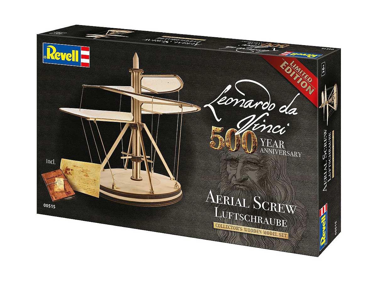 Revell-00515-Aerial-Screw-Leonardo-da-Vinci-500th-Anniversary Revell-Neuheiten im I. Quartal 2019