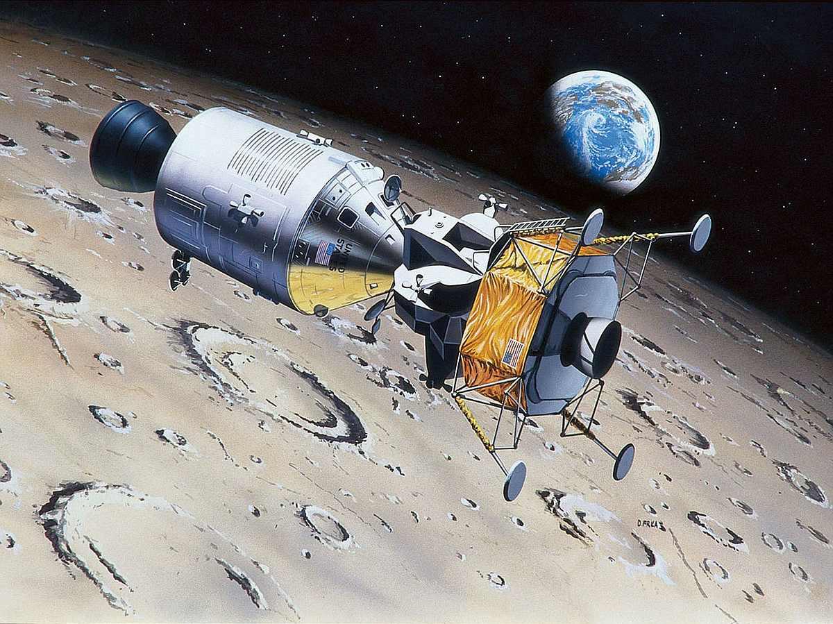 Revell-03700-Apollo-11-Columbia-Eagle-50th-Anniversary-Moon-Landing Revell-Neuheiten im I. Quartal 2019