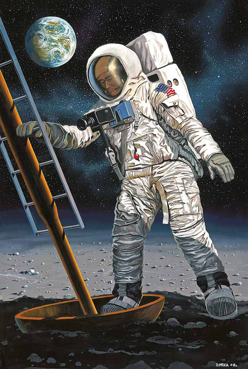 Revell-03702-Apollo-11-Astronaut-on-the-Moon-50th-Anniversary-Moon-Landing Revell-Neuheiten im I. Quartal 2019