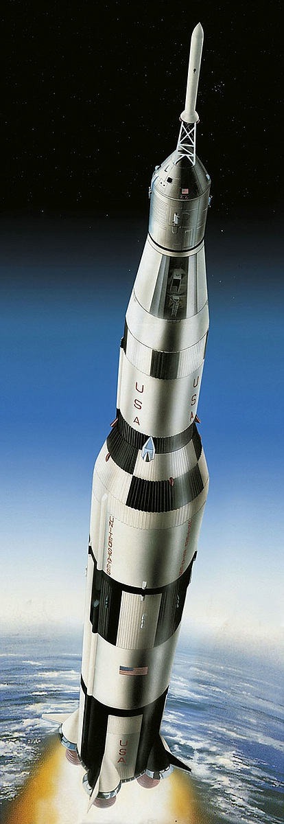 Revell-03704-Apollo-11-Saturn-V-Rocket-50th-Anniversary-Moon-Landing Revell-Neuheiten im I. Quartal 2019