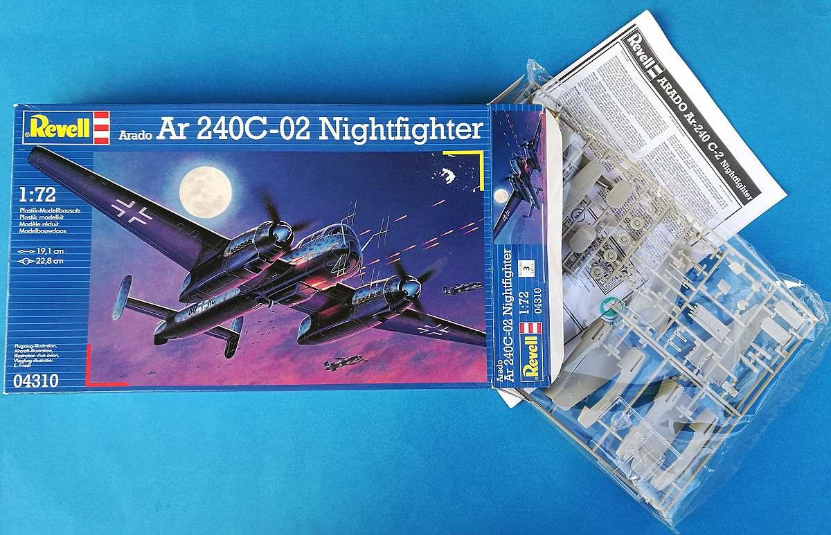 Revell-04310-Arado-Ar-240-C-2-Nightfighter-11 Arado Ar 240 C-2 Nachtjäger im Maßstab 1:72 von Revell 04310