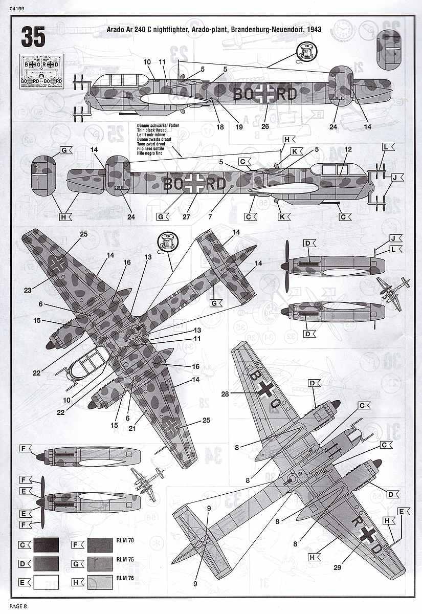 Revell-04310-Arado-Ar-240-C-2-Nightfighter-6 Arado Ar 240 C-2 Nachtjäger im Maßstab 1:72 von Revell 04310