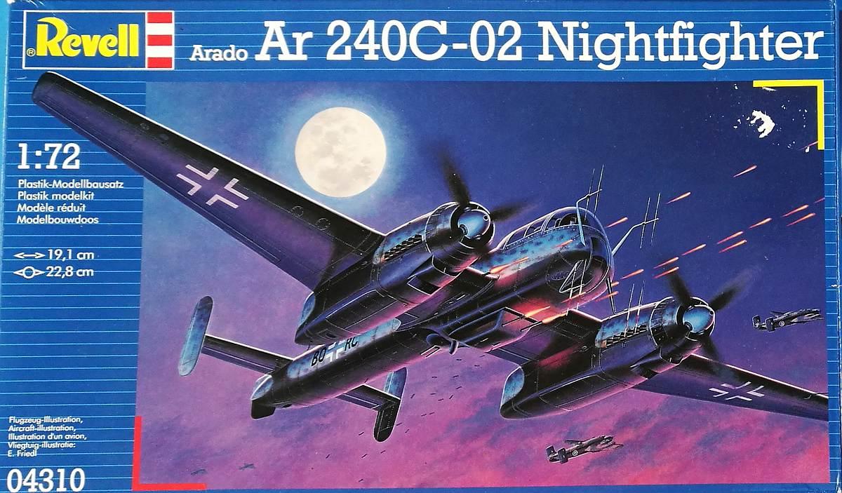 Revell-04310-Arado-Ar-240-C-2-Nightfighter Arado Ar 240 C-2 Nachtjäger im Maßstab 1:72 von Revell 04310