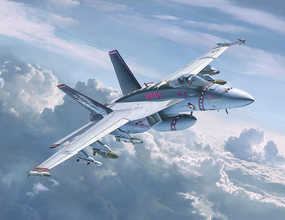 Revell-04994-FA-18E-Super-Hornet Revell-Neuheiten im I. Quartal 2019