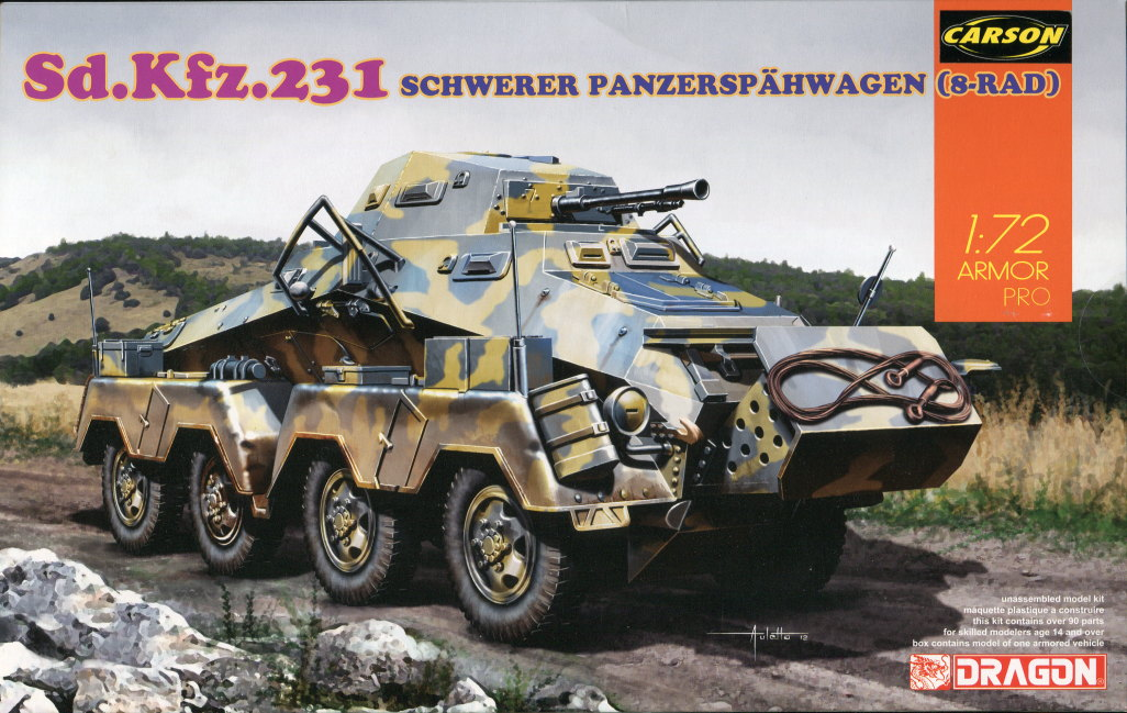 Review_sdkfz231_Dragon_14 Sd.Kfz. 231 Schwerer Panzerspähwagen 8-Rad in 1:72 von Dragon 7483