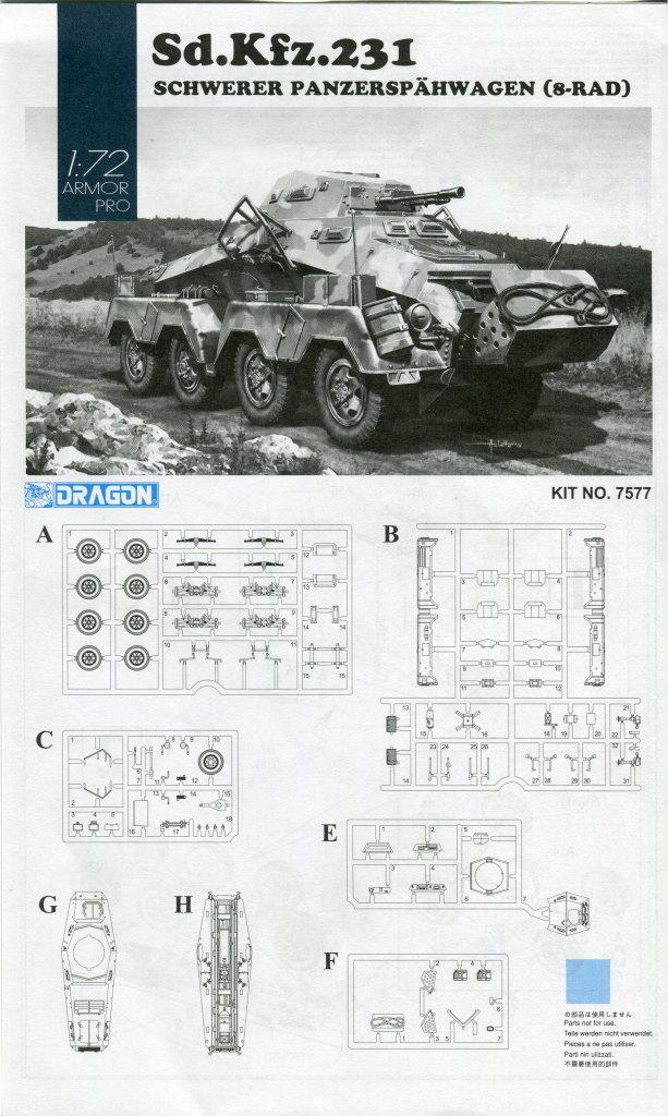 Review_sdkfz231_Dragon_16 Sd.Kfz. 231 Schwerer Panzerspähwagen 8-Rad in 1:72 von Dragon 7483
