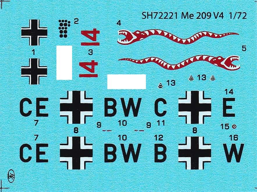 Special-Hobby-SH-72221-Messerschmitt-Me-209-V-4-11 Messerschmitt Me 209 V4 im Maßstab 1:72 von Special Hobby SH 72221