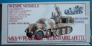 SdKfz 9 mit 88mm Flak Selbstfahrlafette in 1:48 Wespe Models WES 48156