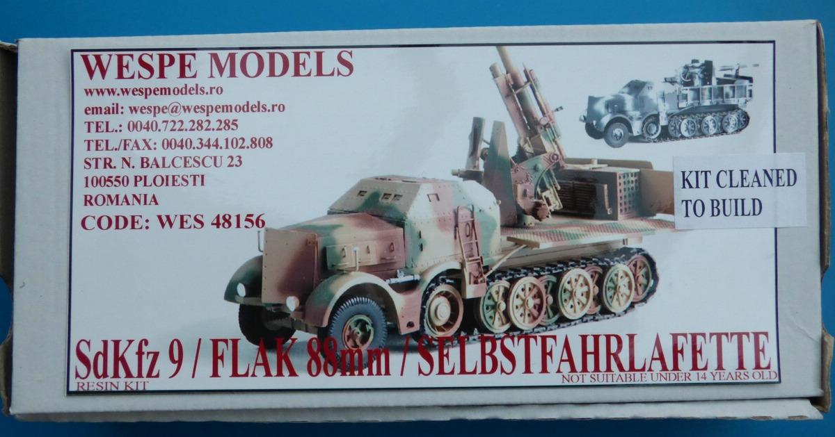 WespeModels-WES-48-156-SdKfz-9-mit-88mm-FLAK-1 SdKfz 9 mit 88mm Flak Selbstfahrlafette in 1:48 Wespe Models WES 48156