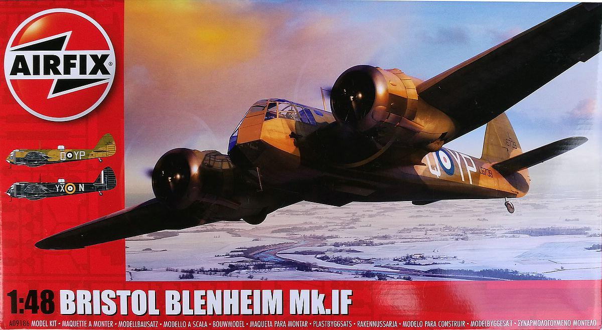 Airfix-A09186-Bristol-Blenheim-Mk.-IF-Deckelbild Blenheim Mk. IF im Maßstab 1:48 von Airfix
