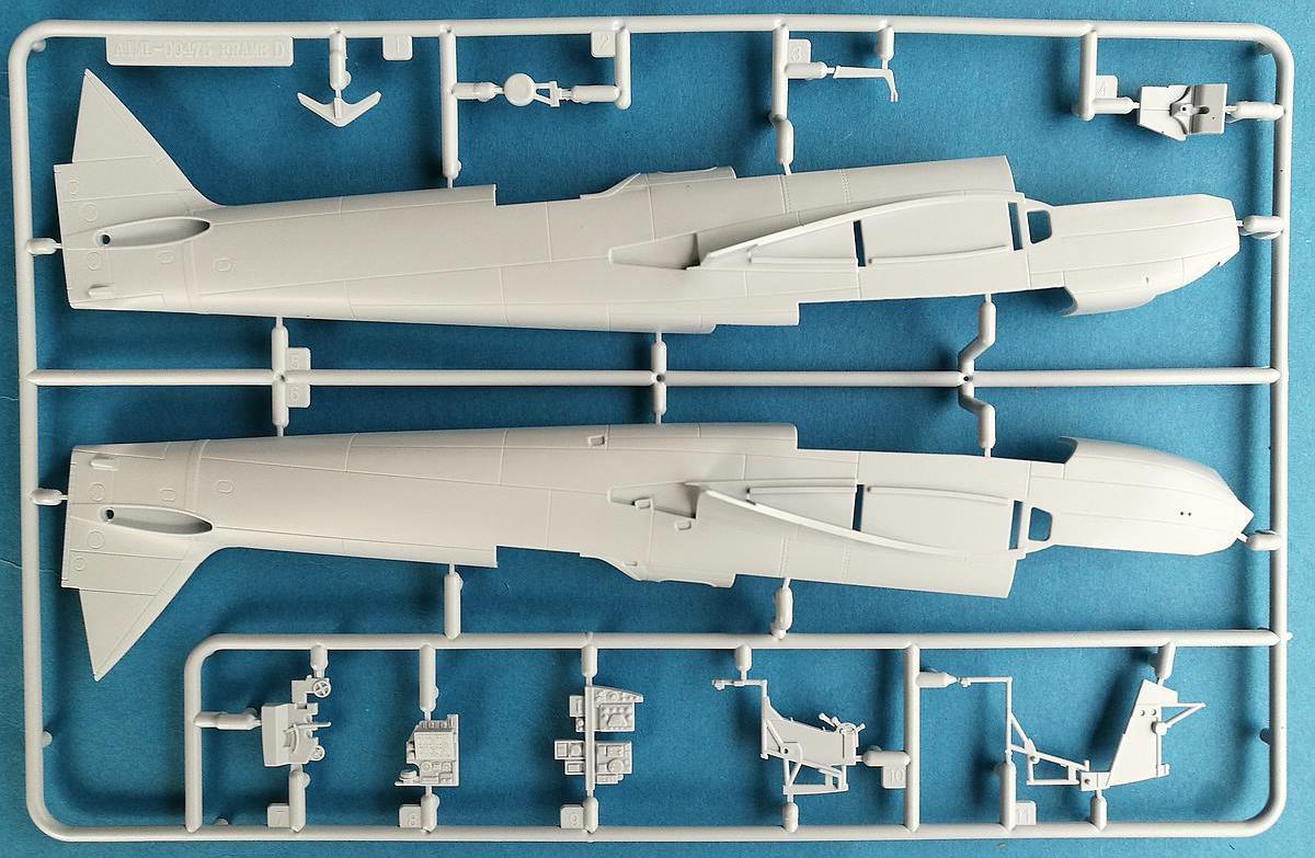 Airfix-A09186-Bristol-Blenheim-Mk.-IF-Spritzling-D-Rumpfhälften-2 Blenheim Mk. IF im Maßstab 1:48 von Airfix