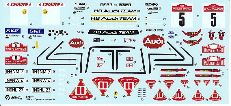 BeeMax-B-24017-AUDI-SPORT-QUATTRO-S1-E2-2 Audi S1 Rallye im Maßstab 1:24 von BeeMax B 24017