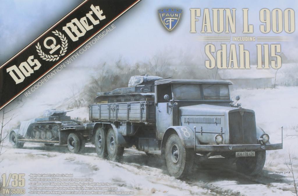 Box Faun L900 mit SdAh 115 1:35 Das Werk (#35003)