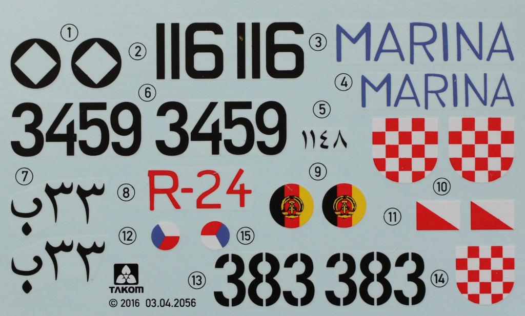 Decals-1 T-55A 1:35 Takom (#2056)