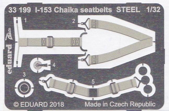 Eduard-33199-I-153-Chaika-seatbelts-STEE-2 Photoätzteile für die 1:32er Polikarpov I-153 Tschaika im Maßstab 1:32 von Eduard