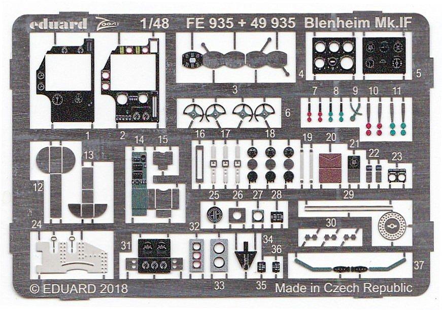 Eduard-49935-Blenheim-Mk.-IF-2 EDUARD Detailsets für die neue Blenheim Mk. IF in 1:48 von Airfix