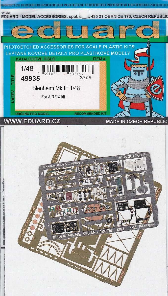 Eduard-49935-Blenheim-Mk.-IF-3 EDUARD Detailsets für die neue Blenheim Mk. IF in 1:48 von Airfix